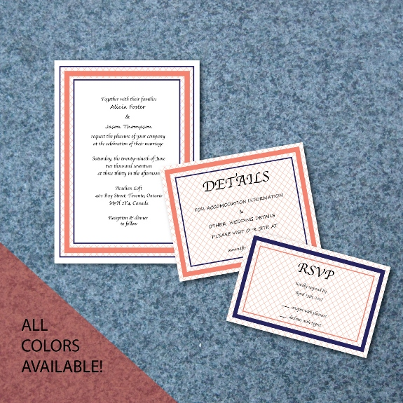 Crisscross Minimalist Invitation Suite available for purchase on my Etsy shop