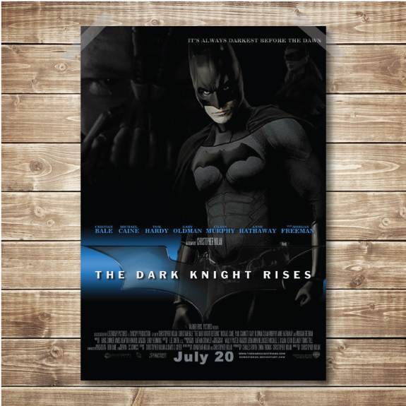 Recreation of the Dark Knight movie poster